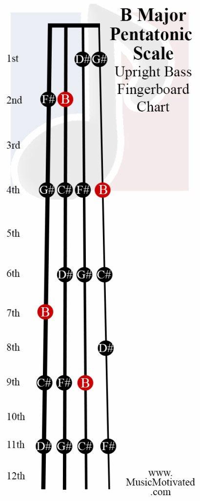 B Pentatonic scale charts for Violin Viola Cello and ...