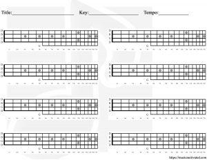 Blank Banjo chords tab