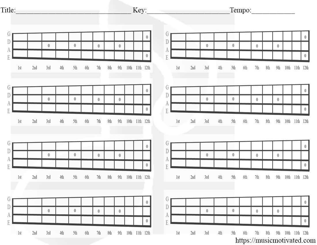 It's just a graphic of Priceless Printable Blank Guitar Chord Chart