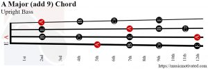 A Major add 9 Upright Bass chord