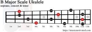 B major chord ukulele