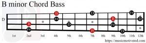 B minor chord Bass