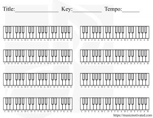 Blank Piano chart for creating a chord progression