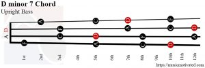 D minor 7 Double Bass chord