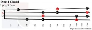 Dsus4 upright Bass chord