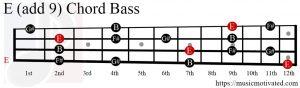 E (add 9) chord Bass