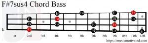F#7sus4 chord Bass