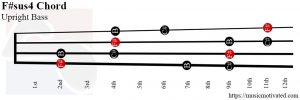 F#sus4 upright Bass chord
