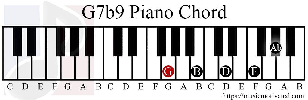 G 7th 9th Chords