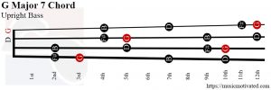 G Major 7 Upright Bass chord